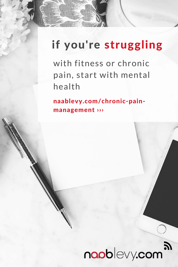 If you're struggling with fitness or chronic pain, start with mental health: Why reaching your health and fitness goals, starts with your mindset #mindsettips #fitnessgoals #howtoreachfitnessgoals #chronicpain #naablevy
